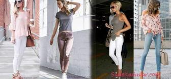 2018 Skinny Jean Modelleri Her zaman Şık ve Trend Kombinler