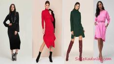 2019 Kışı İçin Muhteşem Triko Elbise Modelleri