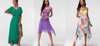 Asimetrik Elbise Modelleri Farklı Kesim ve Tarzı İle Göz Dolduruyor