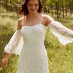 En Güzel 2020 Beyaz Elbise Modelleri Kısa Askılı Düşük Uzun Kol Dantel Fırfır Detaylı