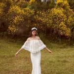 En Güzel 2020 Beyaz Elbise Modelleri Uzun Boyundan Askılı Pelerin Detaylı