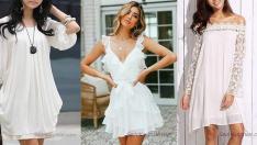 Beyaz Şifon Elbise Modelleri Dünyaca Ünlü Markaların Koleksiyonlarından