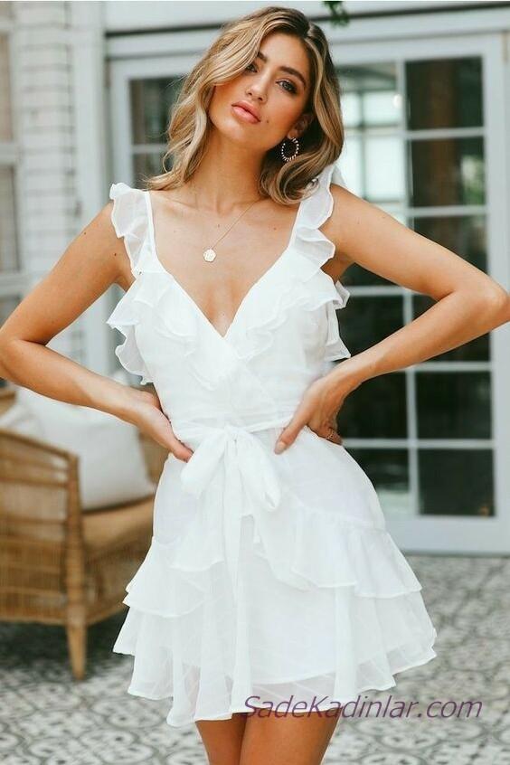 f8c1085c34127 Ünlü Markaların Koleksiyonlarından Beyaz Şifon Elbiseler ...