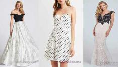 En Moda 15 Siyah Beyaz Elbise Modelleri