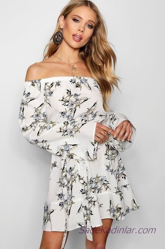 a252c424d153c Kloş Elbise Modelleri ve En Şık Yazlık Elbiseler 2019 | SadeKadınlar ...