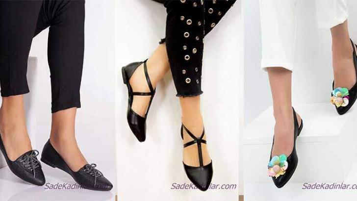 Siyah Babet Modelleri Bayanların Vazgeçemedikleri Ayakkabı Modelleri