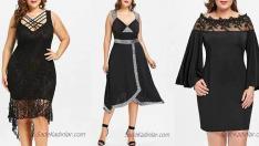 İhtişamlı ve Dikkat Çekici 2019 Büyük Beden Siyah Abiye Modelleri