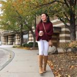 2019 Bi Pantolon Bi Kazak İle Şık Kombinler Beyaz Pantolon Bordo Çizgili Kazak