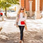 2019 Bi Pantolon Bi Kazak İle Şık Kombinler Siyah Dar Kesim Pantolon Beyaz Sade Kazak
