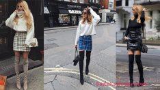 Kışlık Etek Kombinleri En Şık 2019 Sokak Modası