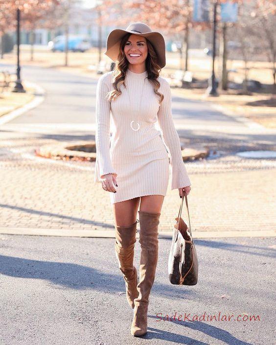 4450257108f8f Kışlık elbise modelleri şık tasarımlarının yanı sıra birbirinden güzel  renkleri ile de tüm dikkatleri üzerine toplamaktadır.