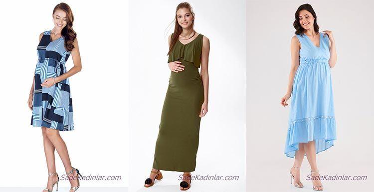 2020 Yazlık Hamile Elbiseleri Anne Adayları İçin Şık ve Rahat Elbiseler