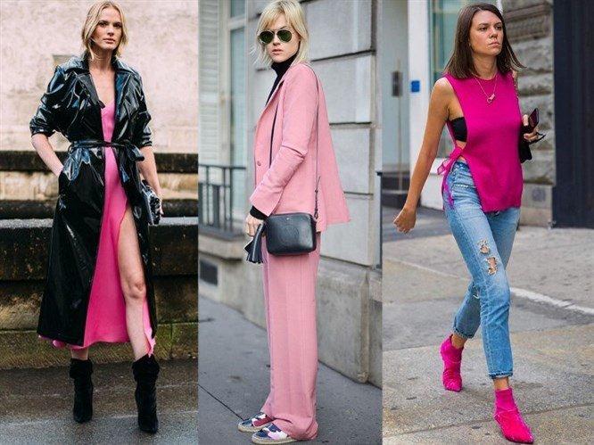 2019 Moda Renkleri Sokak Modası Trendleri Pembe ve Siyah