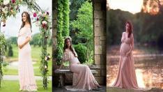 Baby Shower Partisi İçin En Şık Hamile Abiye Modelleri