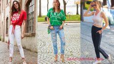 Birbirinden Şık ve Rahat 2019 Yazlık Pantolon Kombinleri