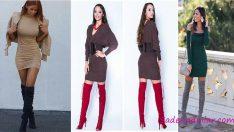 Kış Modasının En Trend 2019 Kışlık Kısa Elbise Modelleri
