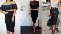 Siyah Kalem Etek Kombinleri 2019 Moda Stil Trendleri