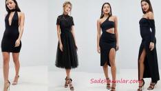 Tarz ve Şık Siyah Abiye Elbise Modelleri 2019 Gece Elbiseleri