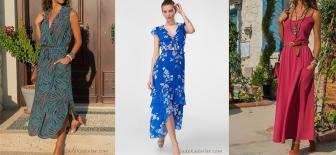 Tatil İçin Şık ve Rahat Uzun Elbise Modelleri