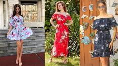 Çiçekli Desenli Elbise Modelleri İle Haftaya Cıvıl Cıvıl Başlayın