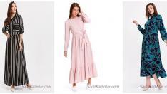 2019 Uzun Kollu Elbise Modelleri İle Mevsiminin Enerjisini Yakalayın