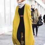 2019 Bayan Kaşe Kaban Modelleri Yeşil Uzun Cepli Yakasız Spor