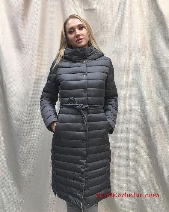 2019 Bayan Mont Modelleri Füme Uzun Cepli Balıkçı Yaka Çıtçıtlı Kumaş Bağcıklı