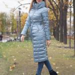 2021 Bayan Mont Modelleri Gri Uzun Boğazlı Yaka Cepli Kumaş Kemerli Fermuarlı