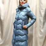 2019 Bayan Mont Modelleri Mavi Uzun Boğazlı Yaka Cepli Fermuarlı