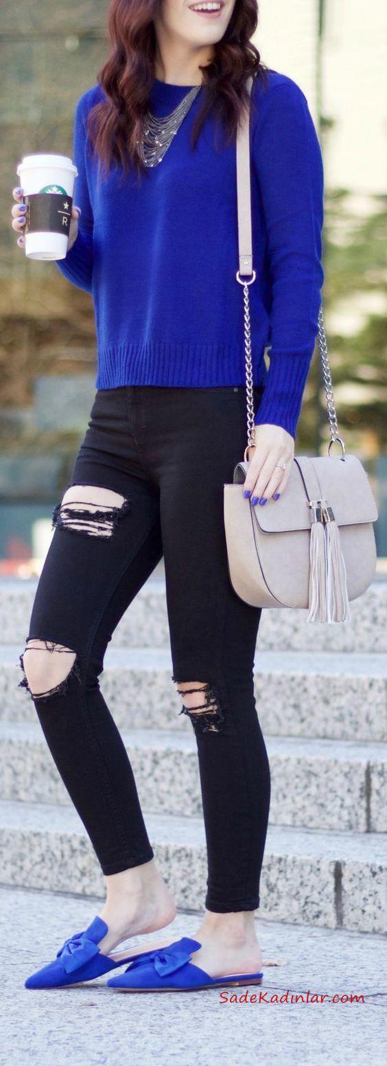 Skinny Jean Modelleri ve Kombinleri 2019 -16