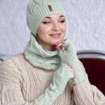 2020 Bayan Kış Modası; Atkı Bere Modelleri Su Yeşili Örnekli
