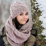 2020 Bayan Kış Modası; Atkı Bere Modelleri Vizon Örnekli