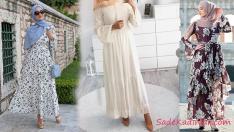 Yaz Modası En Şık 2019 Tesettür Elbise Modelleri