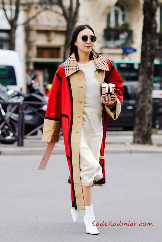 Şık Ankle Bot İle Kıyafet Kombinleri; Diz altı Elbiseler Ankle botları ve midi boy etekler sonbahara geçiş için mükemmel kıyafet kombinlerindendir.