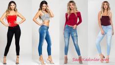 Sokak Modası Trendleri 2019 Skinny Kot Pantolon Kombinleri