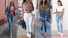 20 Yüksek Bel Jean ile En Şık Kombinler