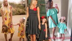 2019 Anne Kız Elbise Modelleri İle Uyumu Birlikte Yakalayın!