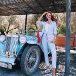 2019 Bayan Ceket Pantolon Kombinleri Bebek Mavisi Pantolon ve Ceket Beyaz Bluz