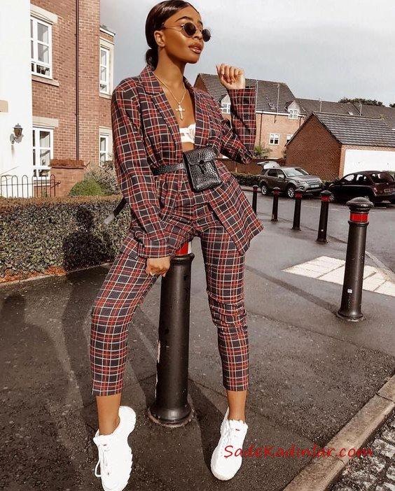 En Trend 2022 Bayan Ceket Pantolon Kombinleri