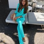 2019 Bayan Ceket Pantolon Kombinleri Turkuaz Mavi Spor Pantolon ve Ceket Takım