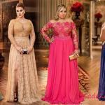 2020 Düğünleri İçin Büyük Beden Elbise Kombinleri