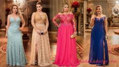 2019 Düğünleri İçin Büyük Beden Elbise Kombinleri