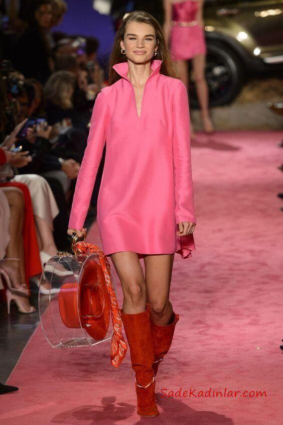 2019 Moda Trendleri Pambe Kısa V Yaka Salaş Elbise