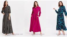 Abartıdan Uzak Sade ve Şık Uzun Kollu Elbise Modelleri