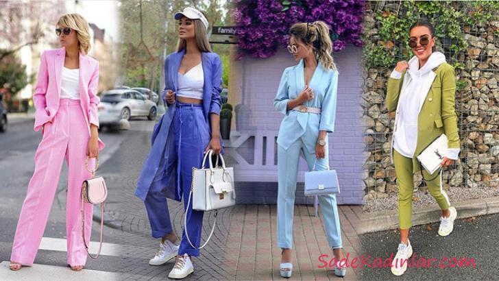 Bayan Ceket Pantolon Kombinleri 2019 Şık Kıyafetler