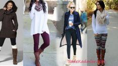 Kışlık Tayt Kombinleri 2019 Soğuk Günlerin Rahat Kıyafetleri