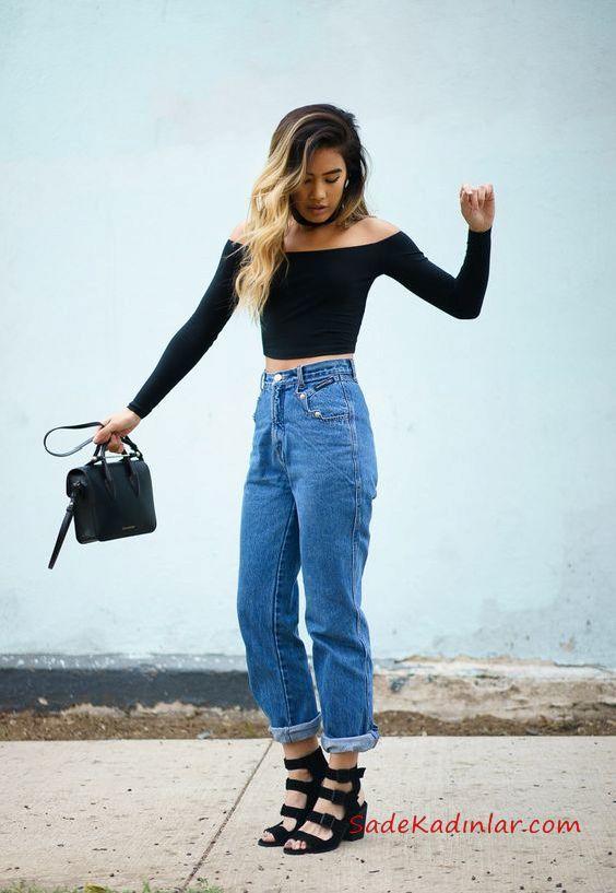 2022'nin En Trend 20 Mom Jeans Kombin Önerisi