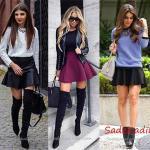 Sonbahar Kış Modası Kısa Kloş Etek Kombin Önerileri