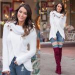 2019 Sokak Kombinleri Mavi Yırtık Skinny Kot Pantolon Beyaz Salaş Kazak Bordo Uzun Nubuk Çizme