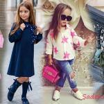 Şık ve Sevimli Kız Çocuk Kombinleri Göz Kamaştırıyor